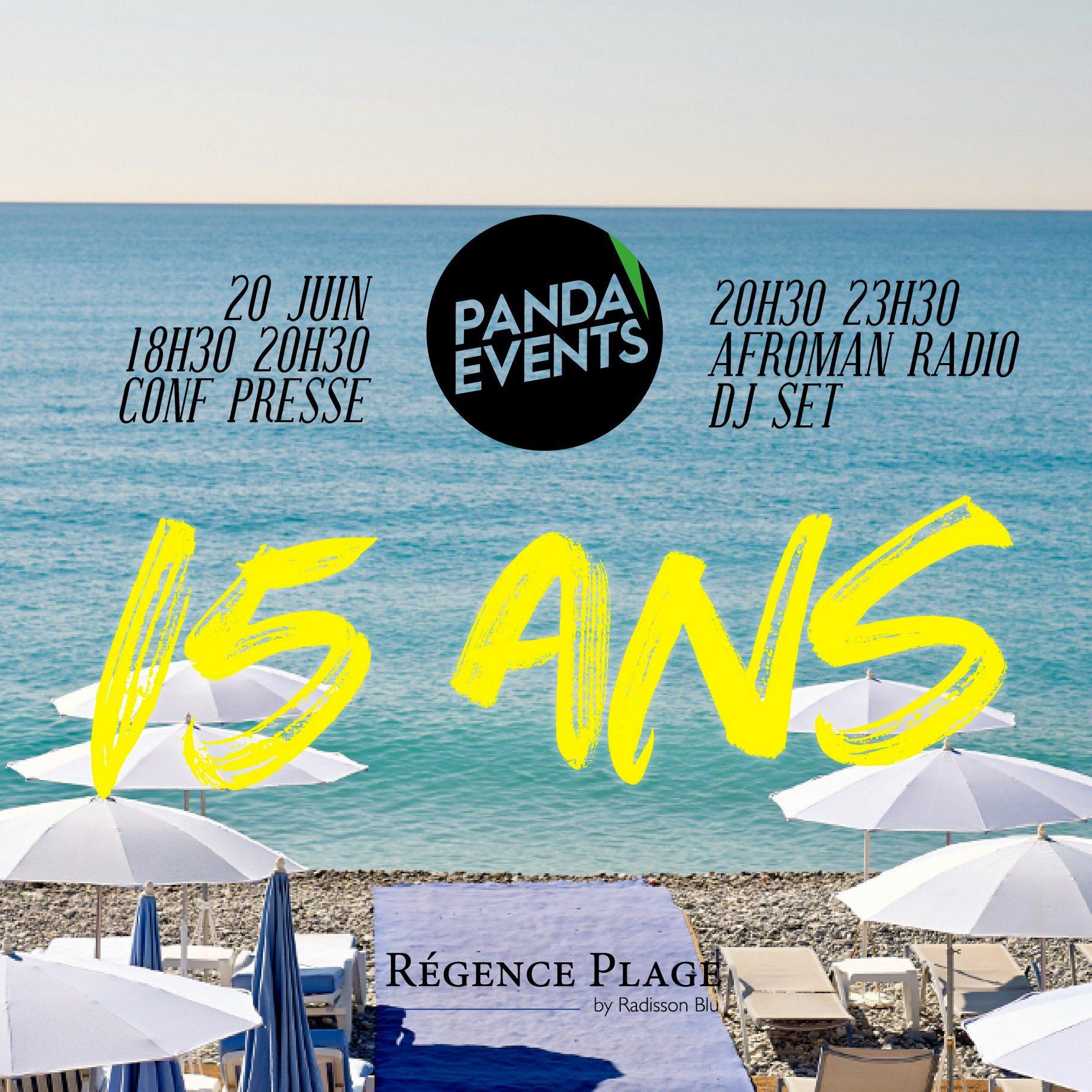 Anniversaire 15 ans Panda Events