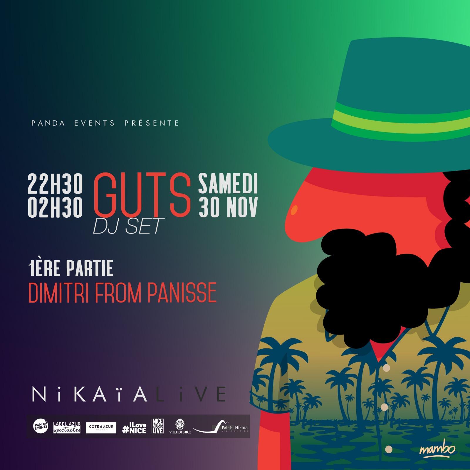 GUTS (DJ Set) + DIMITRI FROM PANISSE