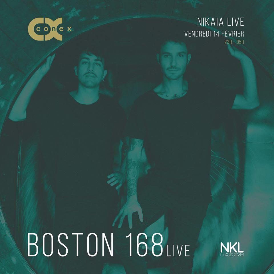 Conex :: Boston 168 (live), Adiel, Ahm Red, Osmoz
