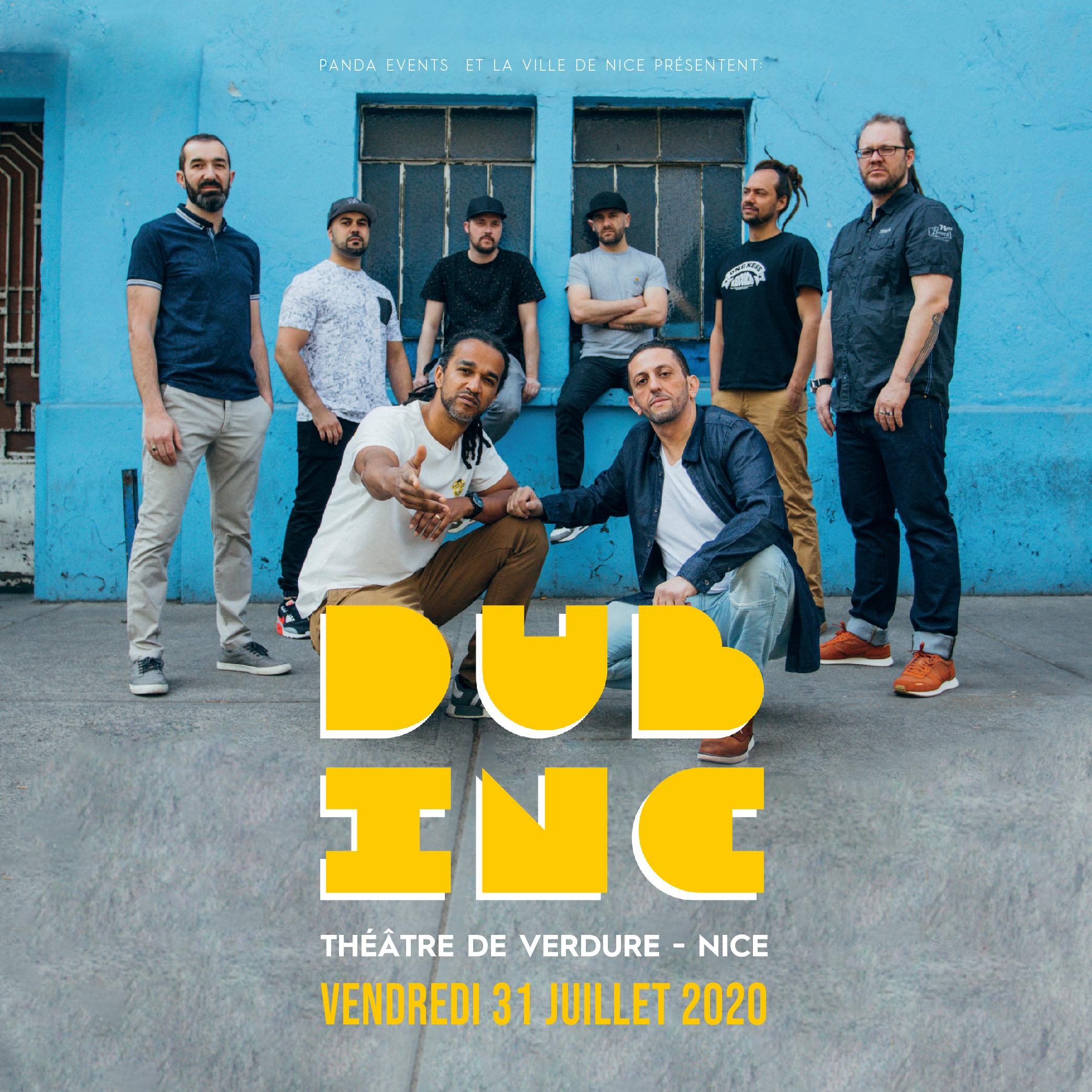 Dub Inc · Vendredi 31 Juillet 2020 · Théâtre de Verdure