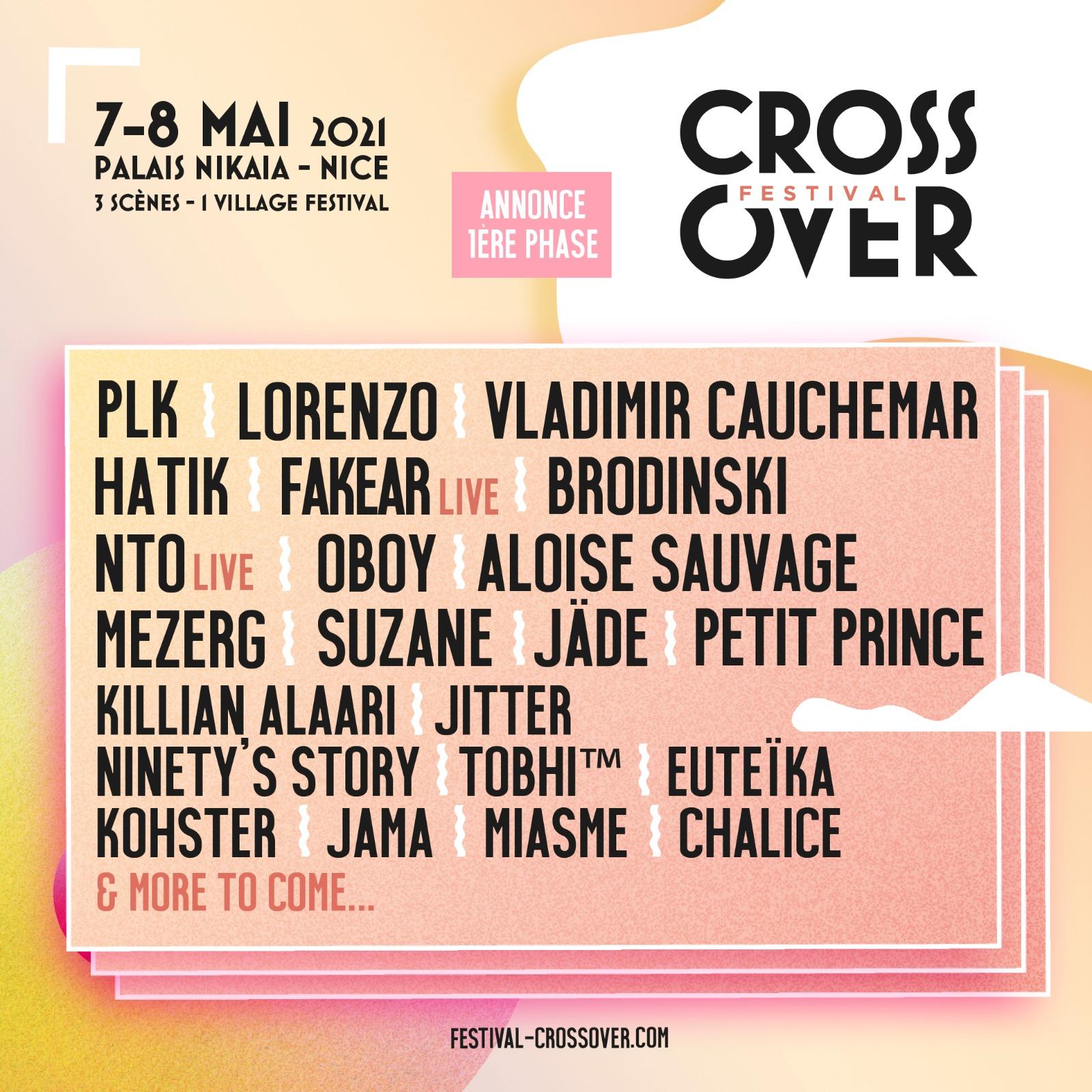 Festival Crossover · 7 & 8 mai 2021 · Nice
