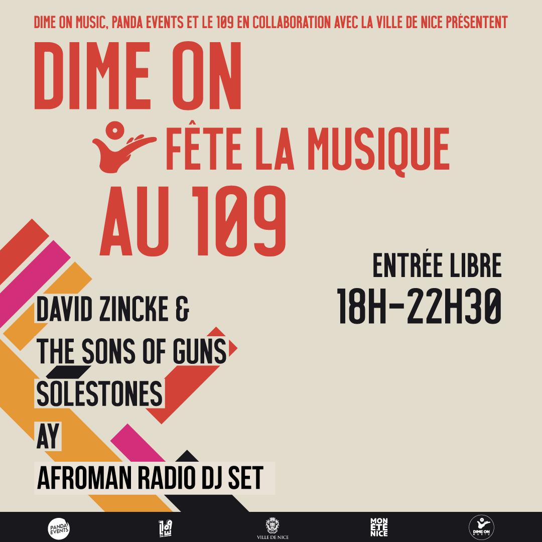 Dime On Fête la Musique au 109 / 21 Juin / 18h - 22h30