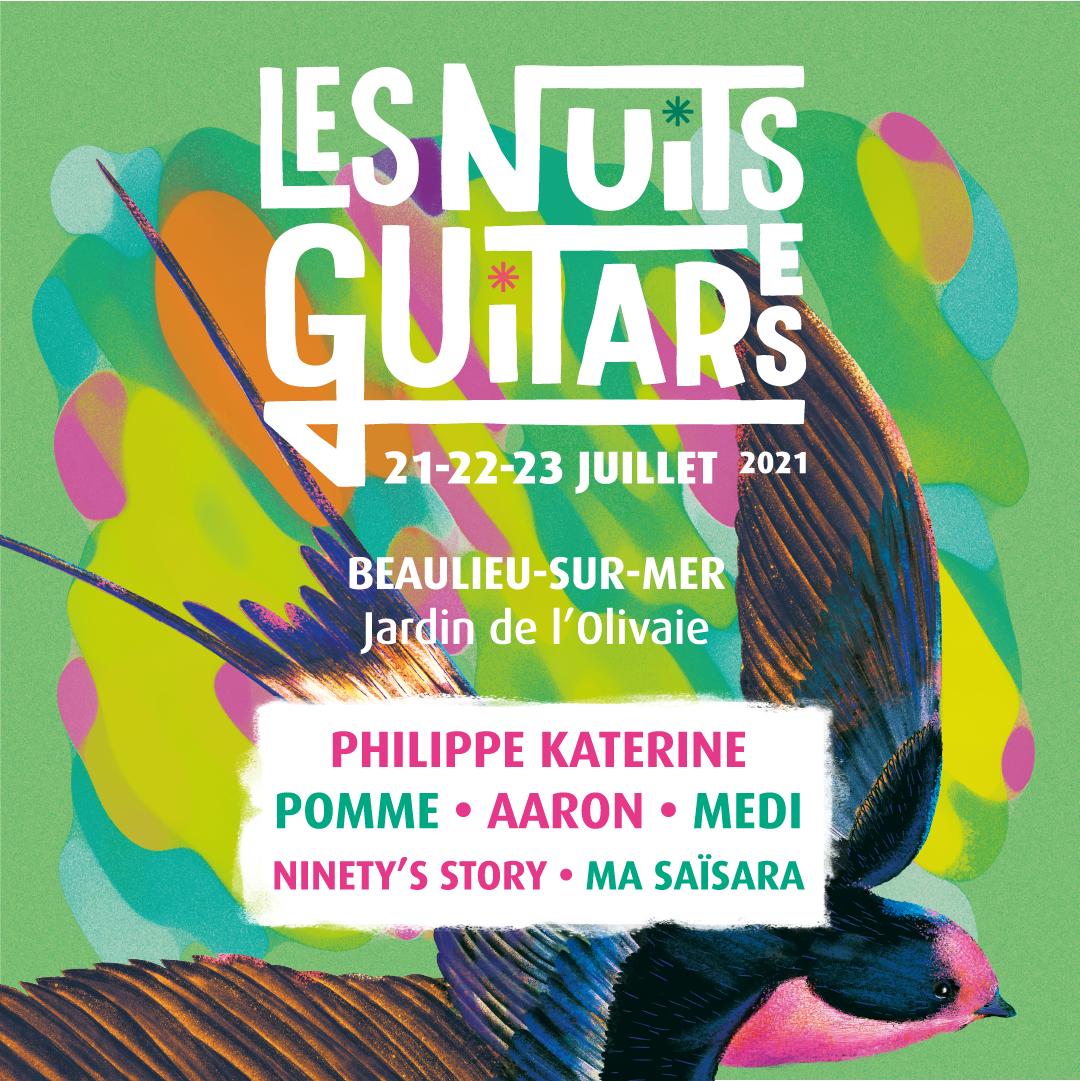 Les Nuits Guitares ★ 21, 22, 23 Juillet 2021 ★ Beaulieu-sur-Mer - Jardin de l'Olivaie